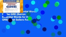 Best ebook  Essential Words for the GRE (Barron s Essential Words for the GRE)  Best Sellers Rank
