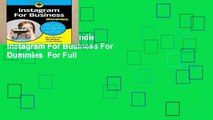 Any Format For Kindle  Instagram For Business For Dummies  For Full