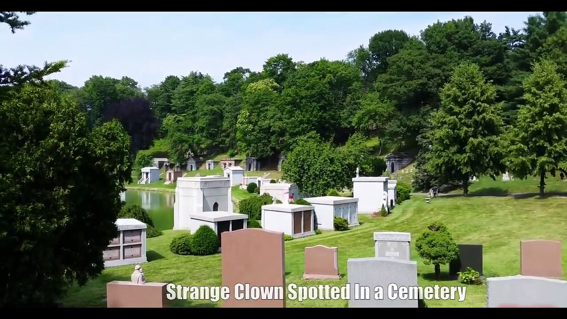 Most Scary Video, Strange Clown Spotted in a Cemetery