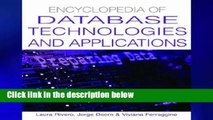 Full Trial Encyclopedia of Database Technologies and Applications any format