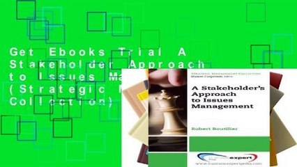 Get s  A Stakeholder Approach To Issues Management Strategic Management Collection For Full Movies