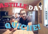 Canadian Demonstrates How to Make French Flag Quiche for Bastille Day