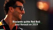 Ricciardo quitte Red Bull pour Renault en 2019