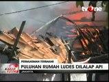 Kebakaran Hanguskan Puluhan Rumah di Pulogadung
