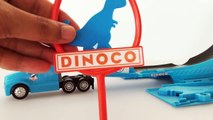 Disney Pixar Cars Tomica Truck Dinoco Unboxing disney cars Lightning mcqueen kids toys