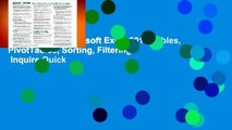 Best ebook  Microsoft Excel 2016 Tables, PivotTables, Sorting, Filtering   Inquire Quick