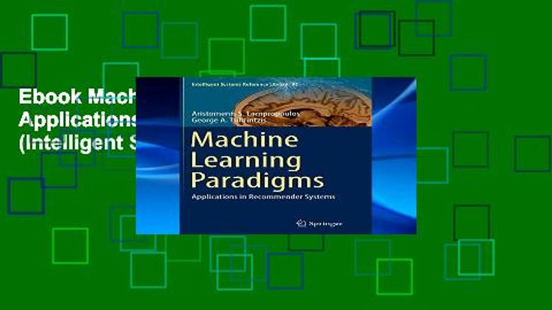 Ebook Machine Learning Paradigms: Applications in Recommender Systems  (Intelligent Systems