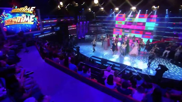 "It's Showtime: Miss Q & A Top 6 performs ""Born This Way"" on It's Showtime stage"