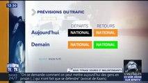 Déjà 670 km de bouchons relevés sur les routes de France à la mi-journée