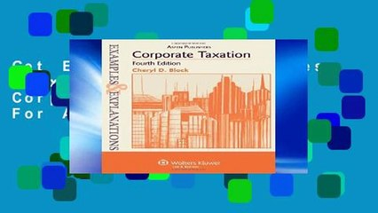 Get s  Examples Explanations For Corporate Taxation For Any Device Full Movies