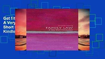Get s  Family Law A Very Short Introduction Very Short Introductions  Full Movies