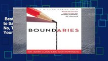 Best seller  Boundaries: When to Say Yes, When to Say No, To Take Control of Your Life: When to