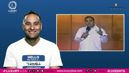 "Russell Peters 2016 ""Almost Famous World Tour"" in Riyadh, Kingdom Saudi Arabia"
