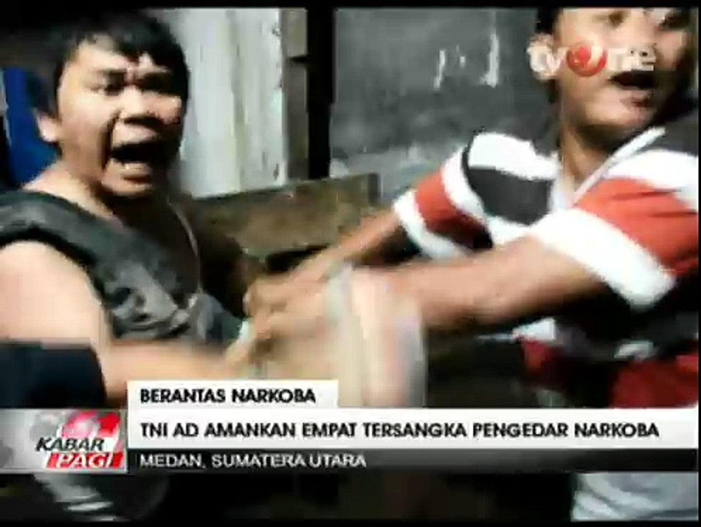 TNI AD Gerebek  Sarang Bandar Narkoba di Medan