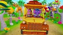 Wheels On The Bus | Jungle Safari Part 1 | Wild Animals