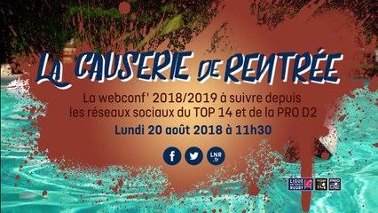 La Causerie de rentrée | Webconf' saison 2018/2019