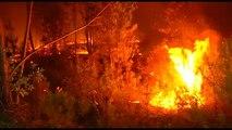La frontière hispano-portuguaise en flammes
