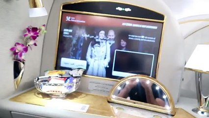 today i took a first class emirates flight to london