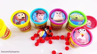 Disney Frozen Toy Story Sheriff Callie Play Doh Surprise Eggs Tubs Dippin Dots Learn Color