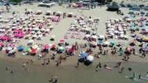 Uyarılara Rağmen Plajlar Doldu Taştı