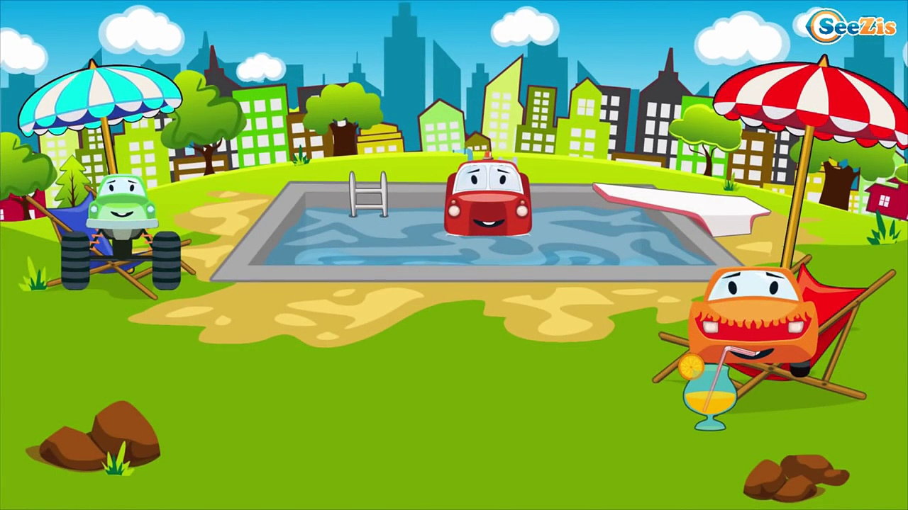 Fire Trucks Adventures Crane & Trucks Monster Trucks Cartoons for Children