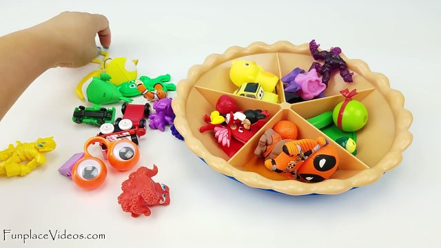 Learn colors and fruits with a toy Sorting Pie Learning Video for Toddlers Kids