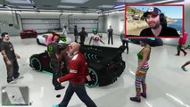 GTA 5 Funny Moments EXTREME Car Flipping | Massive Group Stunt Jump | GTA 5 Online Funny M