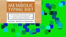 Popular  The Metabolic Typing Diet  Full
