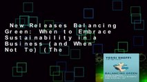 New Releases Balancing Green: When to Embrace Sustainability in a Business (and When Not To) (The