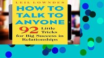 View How to Talk to Anyone: 92 Little Tricks for Big Success in Relationships Ebook How to Talk to