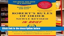 View Robert s Rules of Order Newly Revised In Brief, 2nd edition (Roberts Rules of Order in Brief)