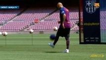 Les jongles d'Arturo Vidal au Camp Nou