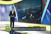 San Miguel: presuntos sicarios atacan a balazos a un grupo de jóvenes
