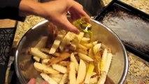 The BEST Baked Crispy Oven Fried Garlic Seasoned French Fries