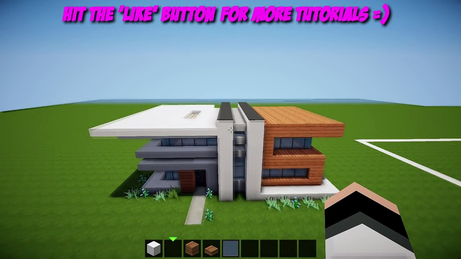 Minecraft Small Easy Modern House Tutorial How To Build A House Video Dailymotion