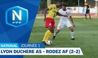 J1 : Lyon Duchère AS - Rodez Aveyron F. (2-2), le résumé