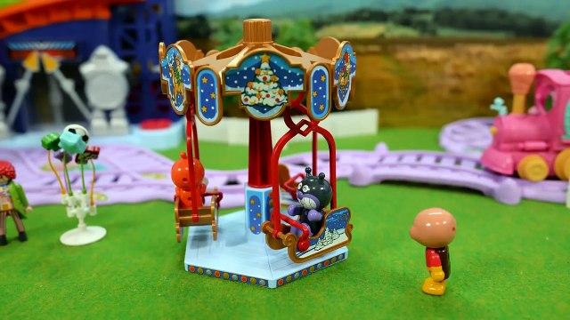 アンパンマンおもちゃアニメ 遊園地と魔法使い / Stop motion Anpanman Theatre: The Amusement Park Wizard