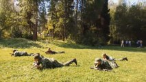 Kids train to become the next Rambo at military summer camp in Russia
