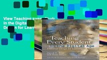 View Teaching Every Student in the Digital Age: Universal Design for Learning online