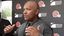 Hue Jackson talks about granting Duke Johnson's wish to be a WR