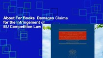 About For Books  Damages Claims for the Infringement of EU Competition Law Complete