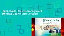 Best ebook  Records Management (Mindtap Course List) Complete