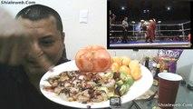 Lucha Libre CMLL En El Show De Shialeweb Comiendo Botana  De Camarones