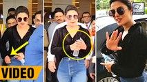 Priyanka Chopra Quickly Hides Engagement Ring As She Returns To India
