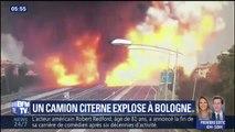 À Bologne, une énorme explosion d'un camion-citerne fait au moins un mort et 68 blessés