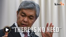 Zahid: Opposition will not have a shadow cabinet