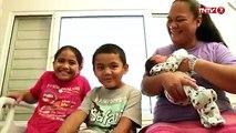#carnetrose  La famille TNTV s'agrandit… Bienvenue à Vatearii, dernier né de la famille MU SAN. Il est le benjamin de notre présentatrice Tauhiti Tauniua MU SA