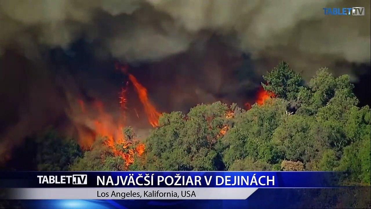 V Kalifornii vyčíňa najväčší lesný požiar v dejinách štátu