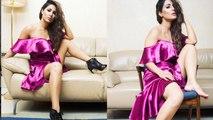 Hina Khan STUNS in Pink Off-Shoulder dress, Photos goes viral। Boldsky