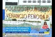TVN estudiantes del Colegio Venancio Fenosa Pascual están en paro – exigen reparación del colegio